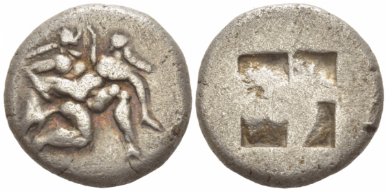 ANCIENT GREECE THASOS DRACHM - photo 1