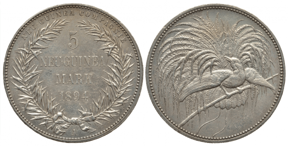 GERMAN NEW GUINEA 5 MARKS - photo 1