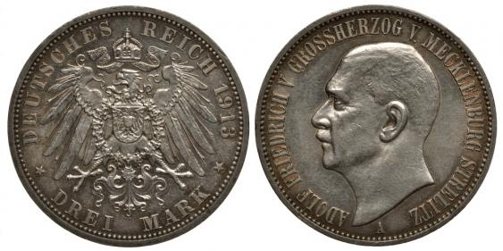 MECKLENBURG-STRELITZ 3 MARK 1913 - photo 1