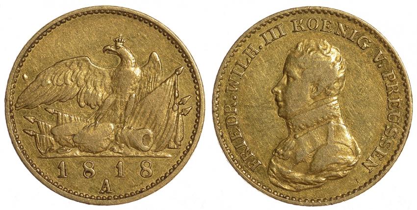 PRUSSIA 1 GULDEN, FRIEDRICH 1818 - photo 1