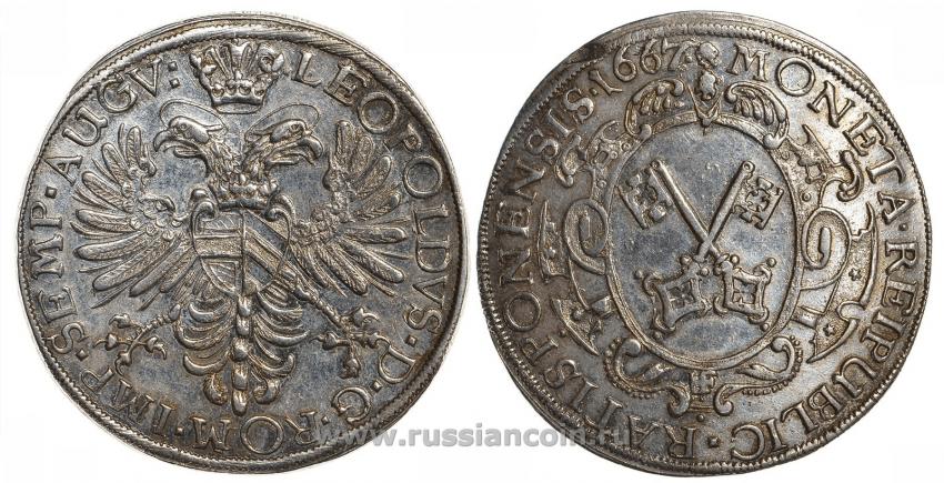 REGENSBURG 1 THALER LEOPOLD I 1667 - photo 1