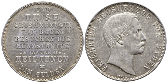 BADEN 1 GULDEN 1857 - photo 1