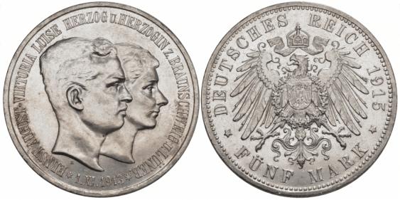 BRAUNSCHWEIG - LUNEBURG 5 MARKS 1915 - photo 1