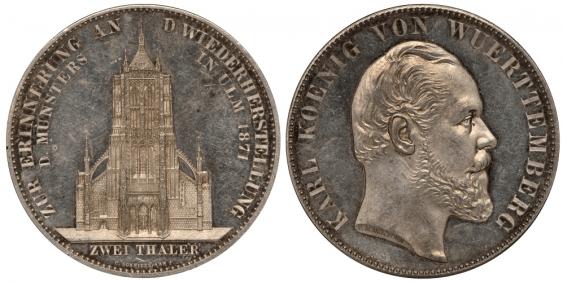 WÜRTTEMBERG 2 TALER 1871 - photo 1