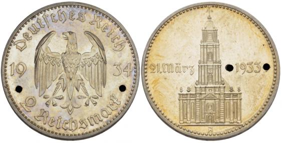 GERMANY 2 REICHSMARK 1934 A - BERLIN - photo 1