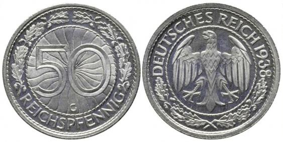 GERMANY 50 REICHSPFENNIG 1938 G - photo 1