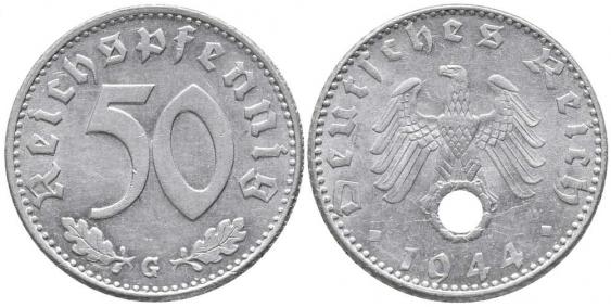 GERMANY 50 REICHSPFENNIG 1943 G - photo 1
