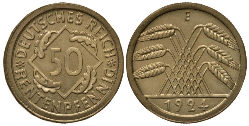GERMANY 50 RENTVERSION 1924 E - photo 1