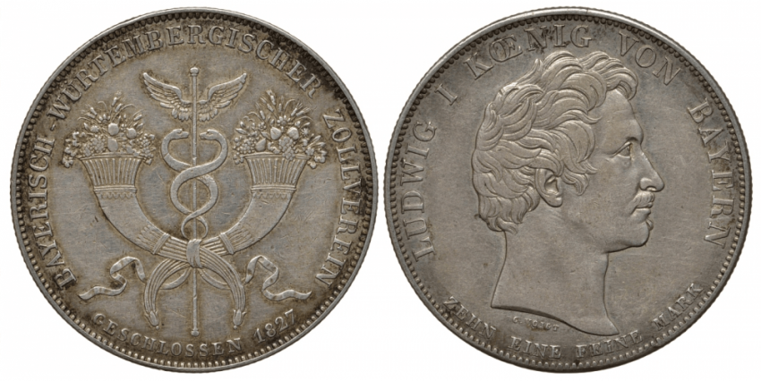 BAVARIA 1 THALER 1827 - photo 1