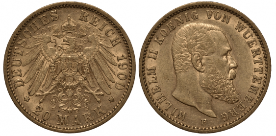 WURTTEMBERG 20 MARKS 1900 - photo 1