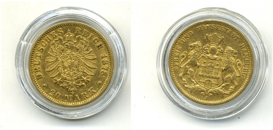 HAMBURG 20 MARKS 1878 J - photo 1