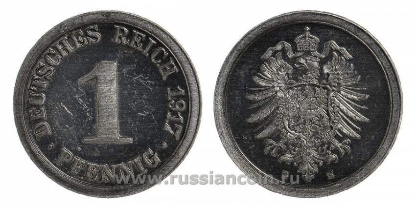 GERMANY 1 PFENNIG 1917 E - photo 1