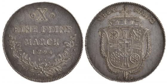 MAINZ 1794 1 TALER FRIEDRICH KARL JOSEPH - photo 1