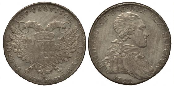 SAXONY 1 TALER 1792 I. E. C. 1034 KM - photo 1