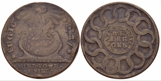 USA 1 CENT 1787 KM NEW HAVEN - photo 1