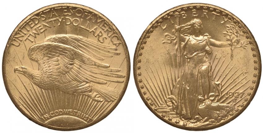 USA 20 DOLLARS 1927 WALKING LIBERTY - photo 1
