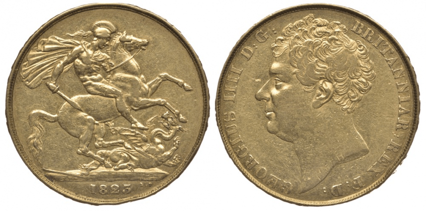 ENGLAND 2 pounds 1823 George IV KM 690 - photo 1