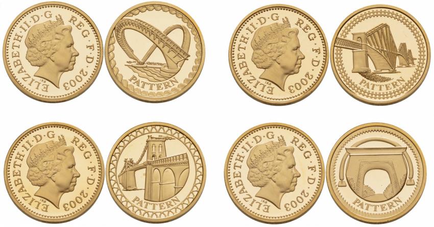 ENGLAND SET OF 4 COINS 1 POUND 2003 - photo 1