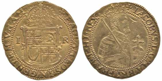 ENGLAND 1 1605-1609 UNITE James I, the fifth portrait KM 47, Spink 2620 gold 10-016-50 - photo 1
