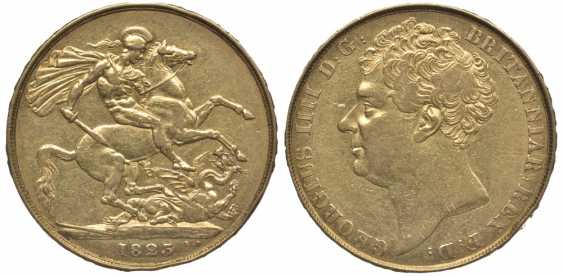 ENGLAND 2 pounds 1823 George IV KM 690, Spink 3798 gold 10-016-51 - photo 1