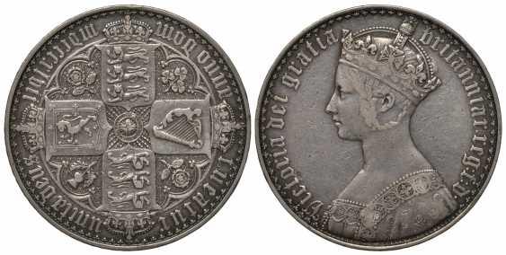 ENGLAND 1 CROWN 1847 GOTHIC, VICTORIA (1837-1901) Spink 3883, Dav. 106 silver 10-011-71 - photo 1