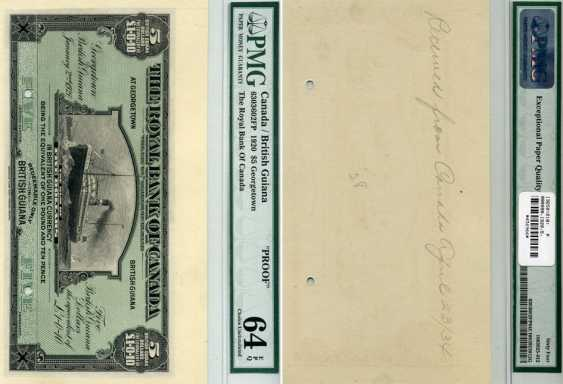 BRITISH GUYANA 5 DOLLARS 1920 PMG PROOF 64 paper (UNC PRESS) 451-243-1 - photo 1