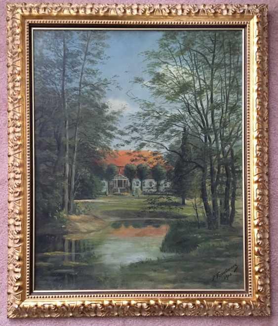 """The Painting """"Estate"""". Germany, 1910 - photo 1"""