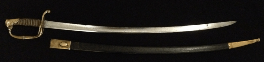 Infantry officer's sword in sheath. 1826 - photo 2