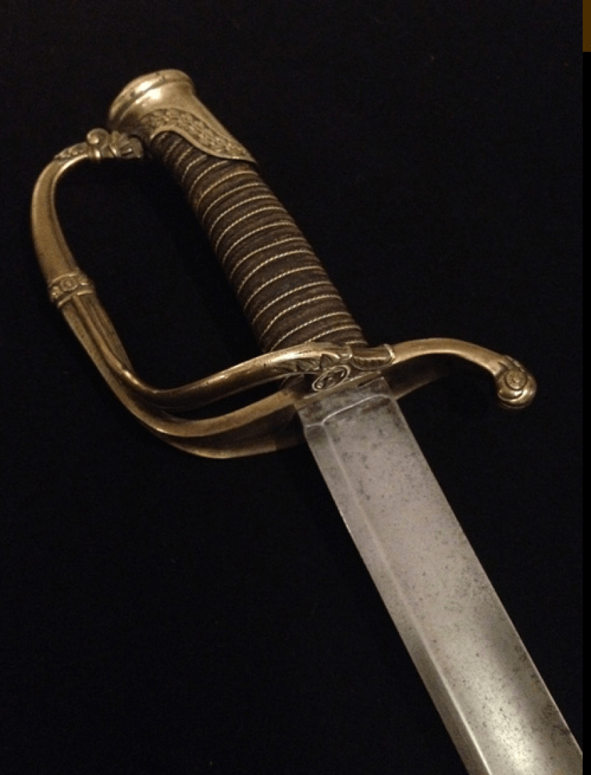 Infantry officer's sword in sheath. 1826 - photo 1