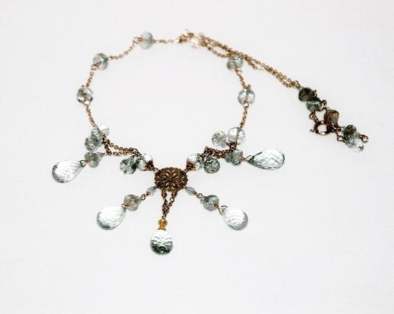 Necklace with aquamarines - photo 1