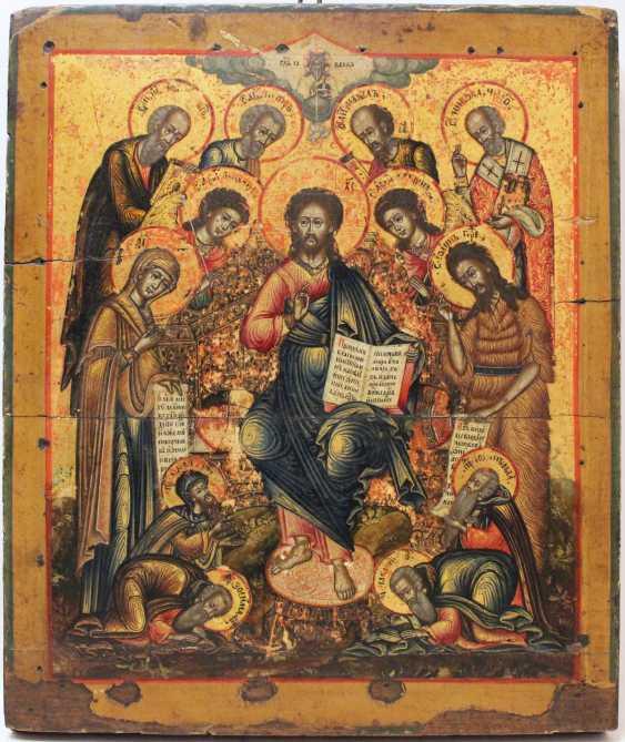 """L'icône """"Деисус avec припадающими saints"""" - photo 1"""