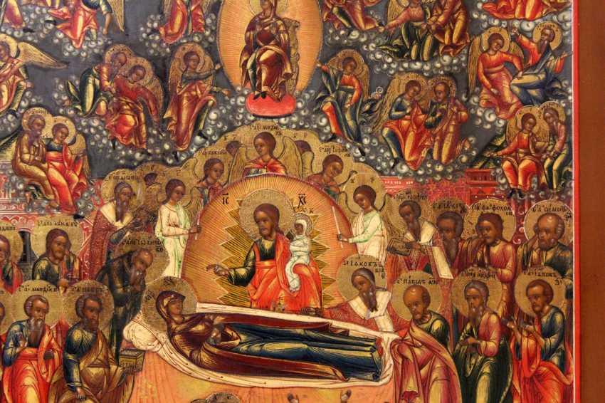 """Икона """"Успение Богородицы с облачными Апостолами"""" - фото 3"""