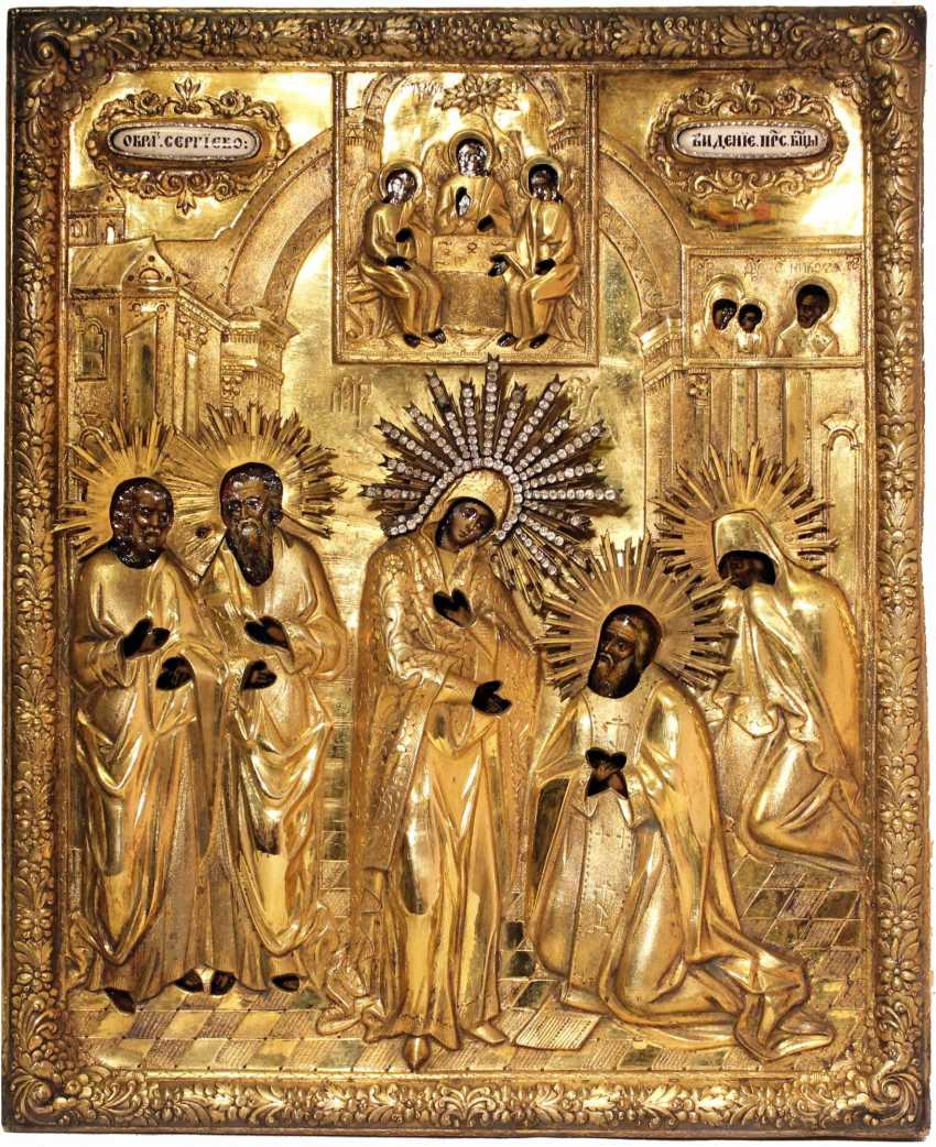"""The Icon """"Appearance Of The Virgin To Sergius Of Radonezh"""" - photo 2"""