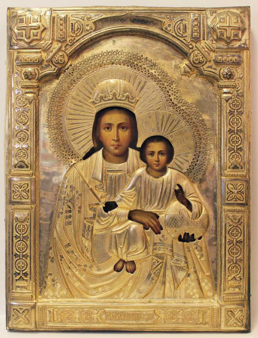 "The icon of the mother of God ""Before birth and after the birth of the virgin"" - photo 1"