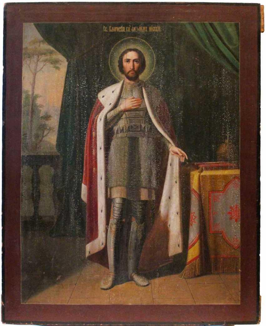 """Icon Of """"Saint Prince Alexander Nevsky"""" - photo 1"""