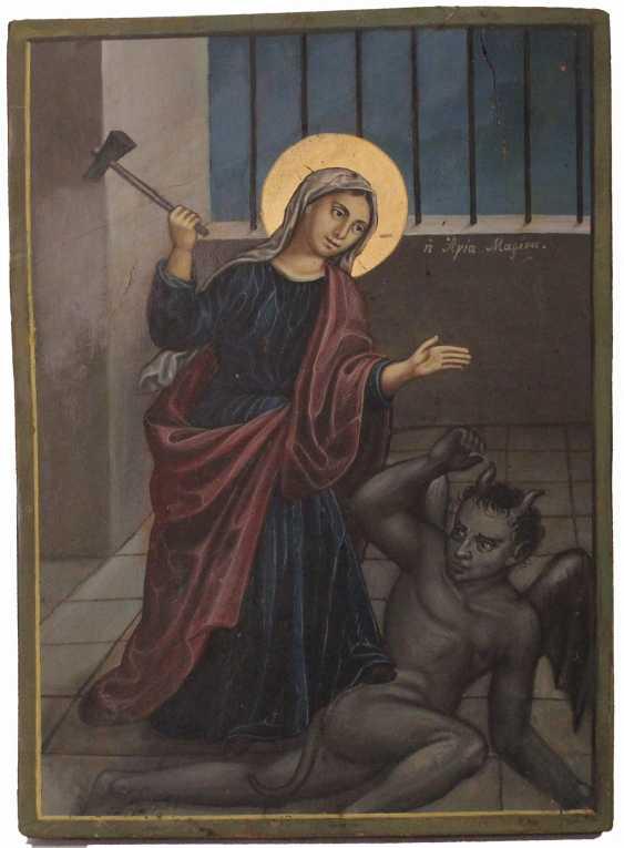 """Ikone """"Heilige Hafen bricht des Teufels"""" - Foto 1"""
