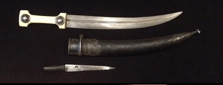 """A Caucasian dagger """"Bebutov"""" in the scabbard, XIX century - photo 1"""