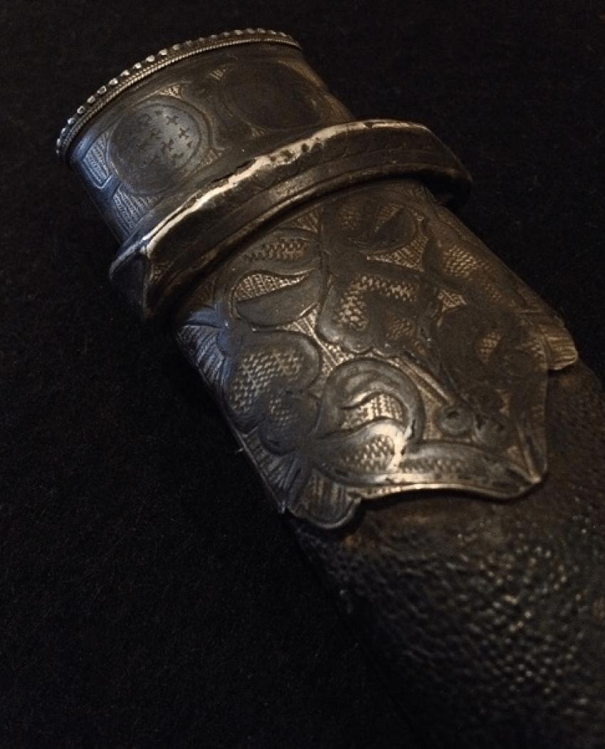"""A Caucasian dagger """"Bebutov"""" in the scabbard, XIX century - photo 5"""