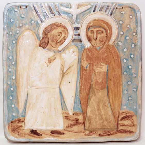 Ceramic icon of the Annunciation - photo 1