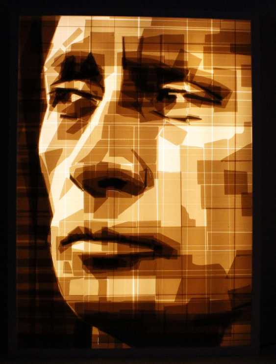 "Portrait ""Vladimir Putin"" in the technique of tape-art - photo 1"
