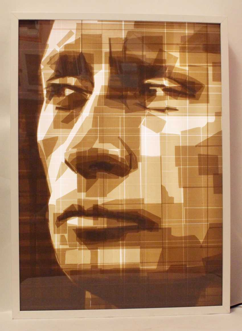 "Portrait ""Vladimir Putin"" in the technique of tape-art - photo 2"