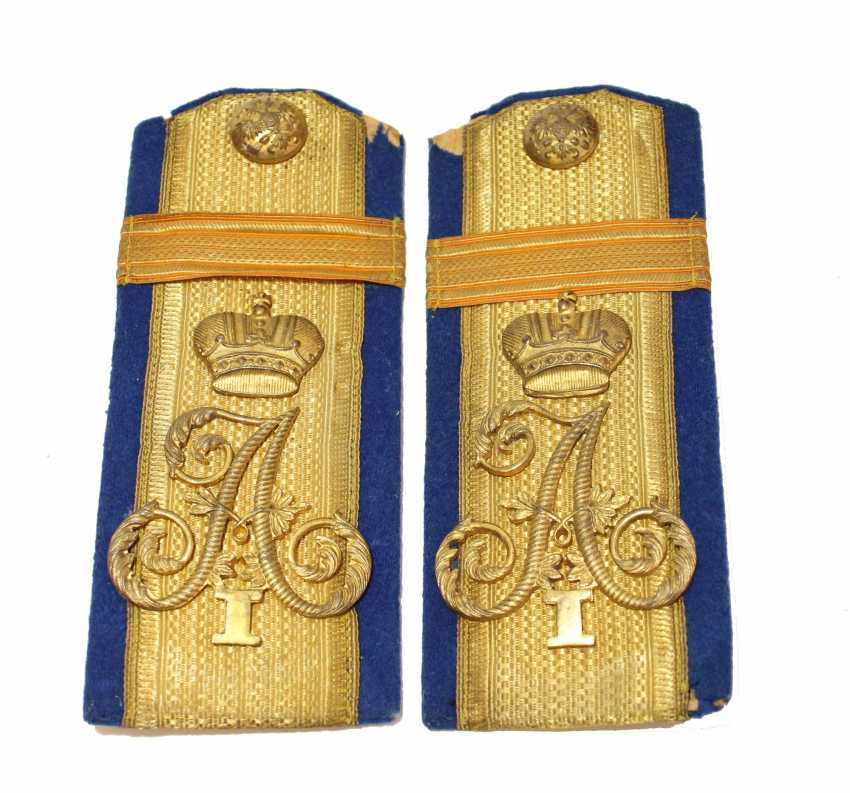 The shoulder straps of the Ensign at the post of Sergeant major of the 48th Odessa infantry regiment of Emperor Alexander I - photo 1
