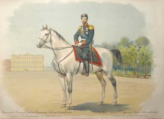 Chromolithograph Emperor Nicholas Alexandrovich. - photo 1