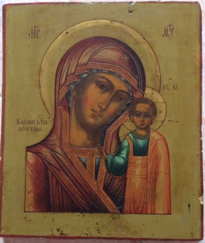 "Icon ""Kazan Mother Of God."" Mstera, XIX century.( without restoration) - photo 1"