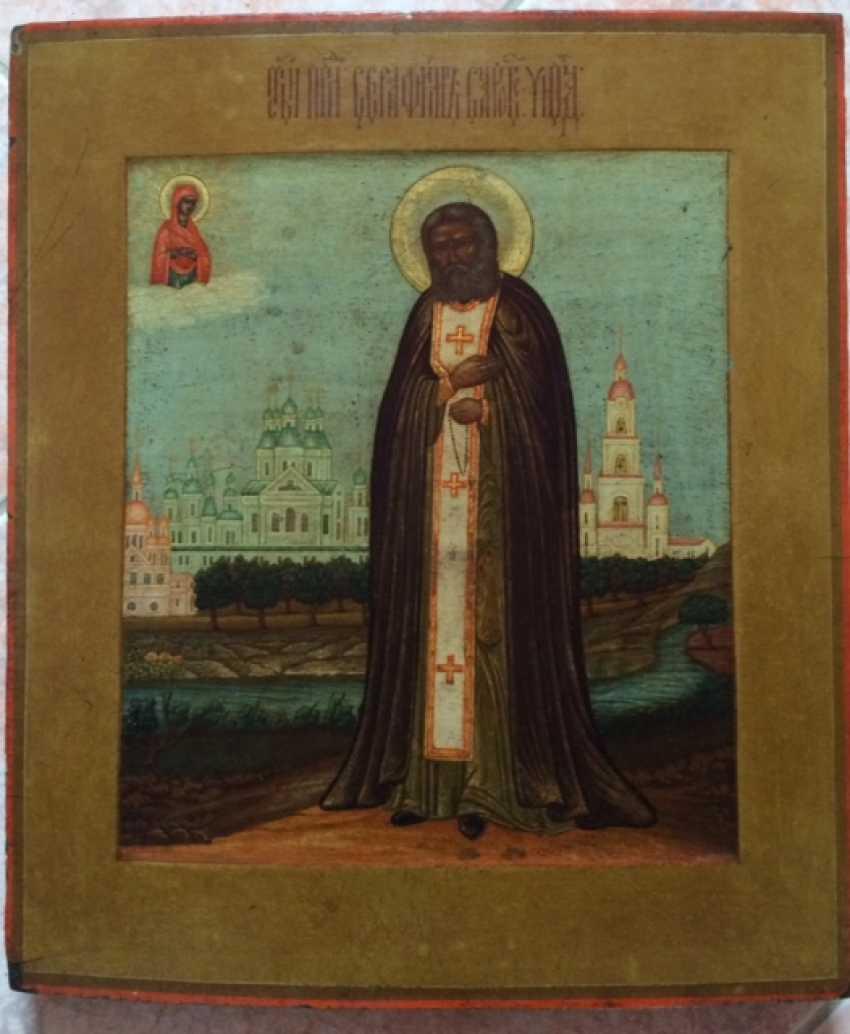 "Icon ""St. Seraphim Of Sarov"". Mstera, XIX century. - photo 1"