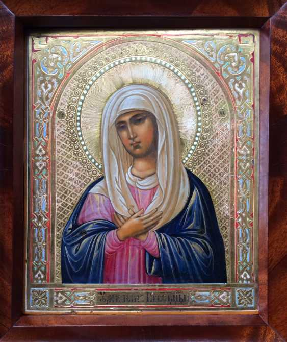 "The Icon Of The Mother Of God Of St. Seraphim-Diveevo ""Tenderness"". Sarov, 1904. - photo 1"