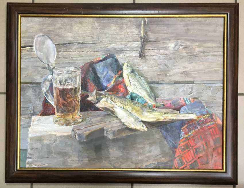 """Khodorovich, V. P., """"still life with glass of beer"""". - photo 1"""