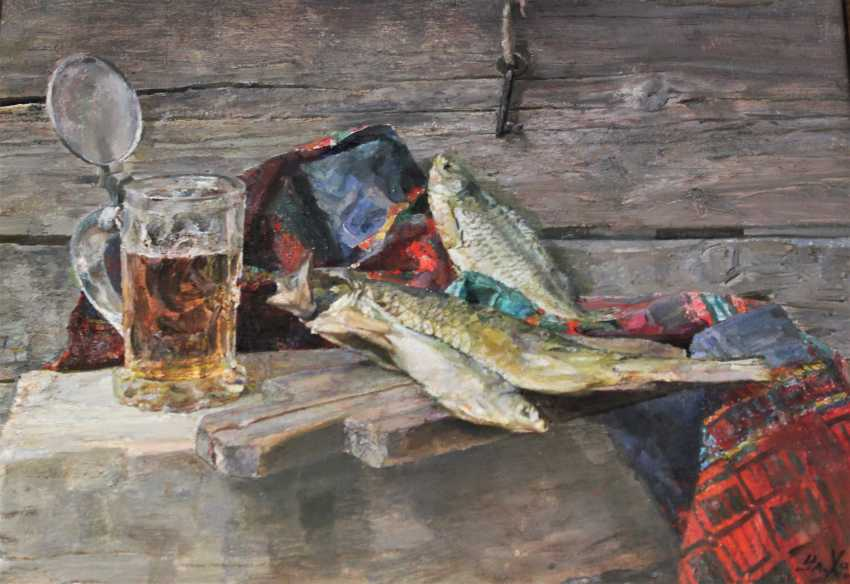 """Khodorovich, V. P., """"still life with glass of beer"""". - photo 5"""