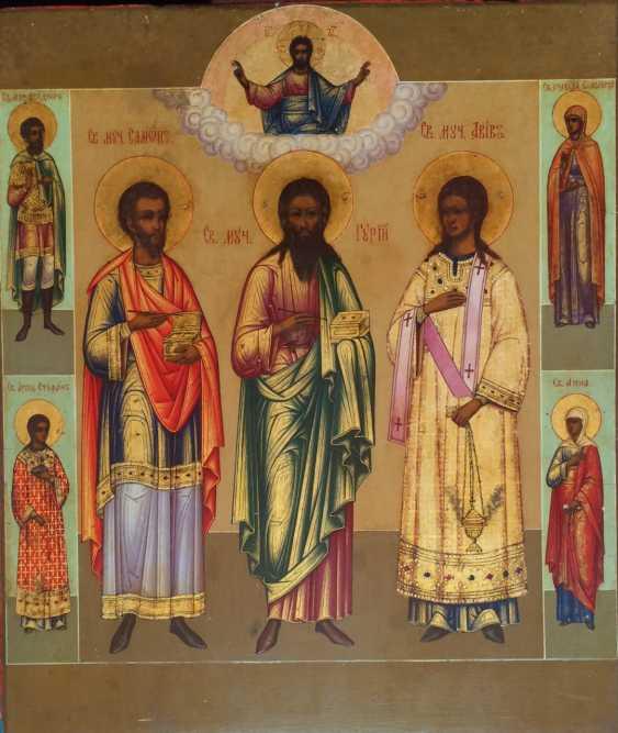 "Lackey. Ruchkin""SV.martyrs Gurias,Samonas and Aviv"". Ruchkin. Lackey. The late nineteenth century. - photo 1"