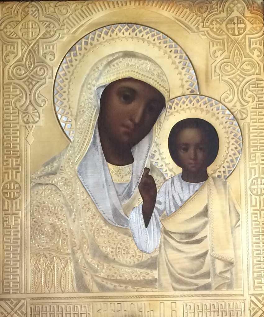 "Icon ""Kazan Mother Of God"". Moscow, 1886. 84 sample - photo 1"
